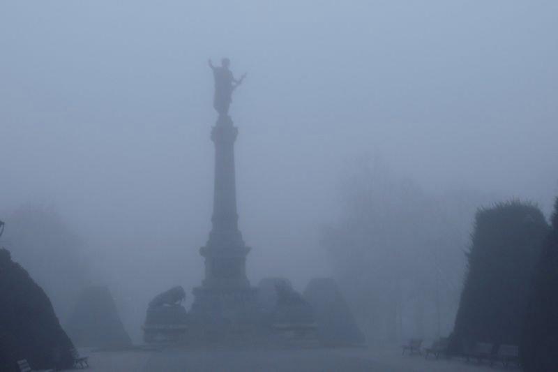 мъгла и опасно намалена видимост
