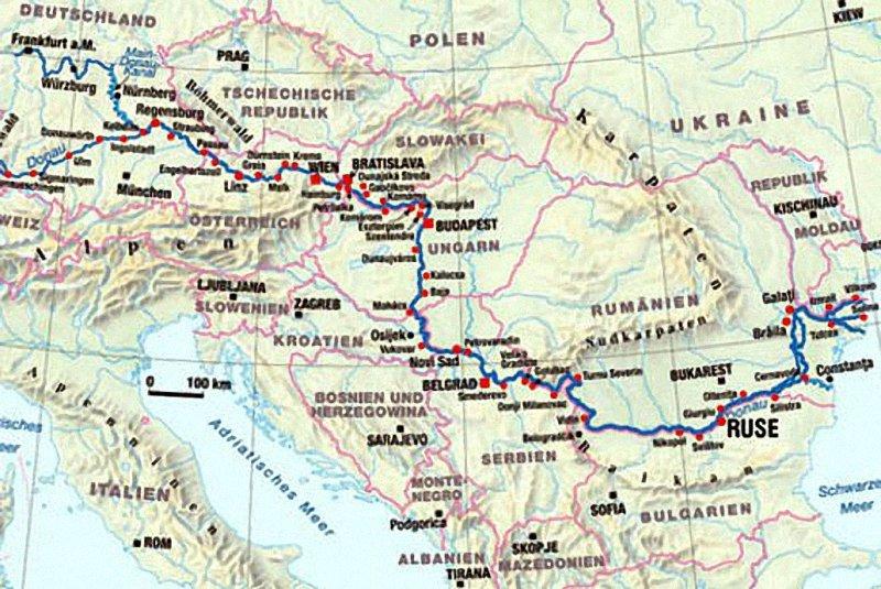дунай на карте европы фото власть