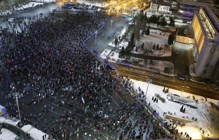 Румъния се вдигна на протест