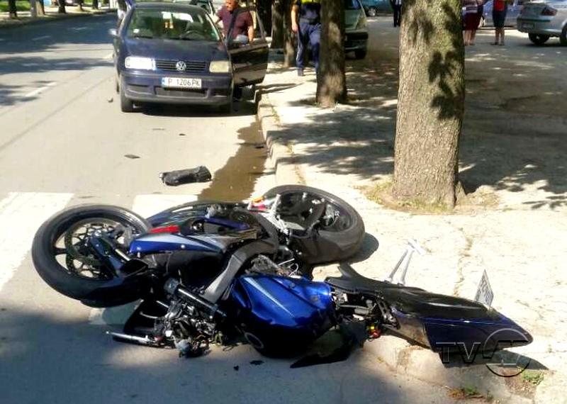 Мотоциклетист пострада тежко