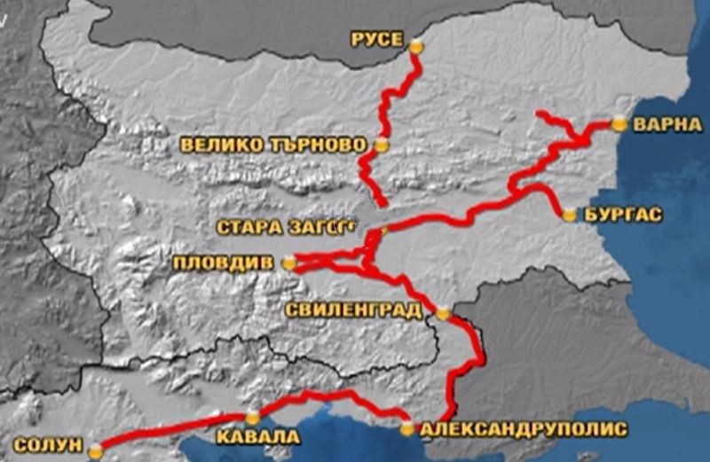 транспортния коридор Солун - Кавала – Русе