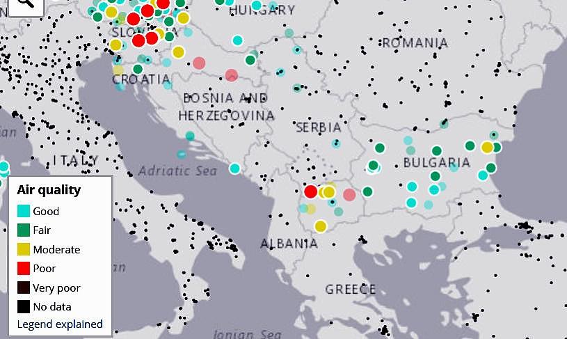 Sledim Onlajn Chistotata Na Atmosferniya Vzduh V Blgariya