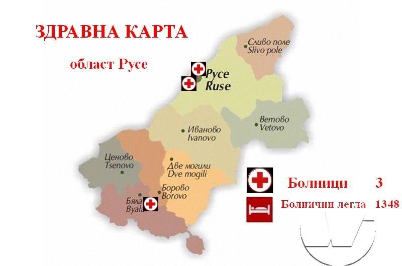 Здравната карта на Русе