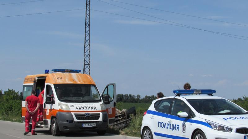 Сблъсък между два буса затвори участък от пътя Русе – Бяла