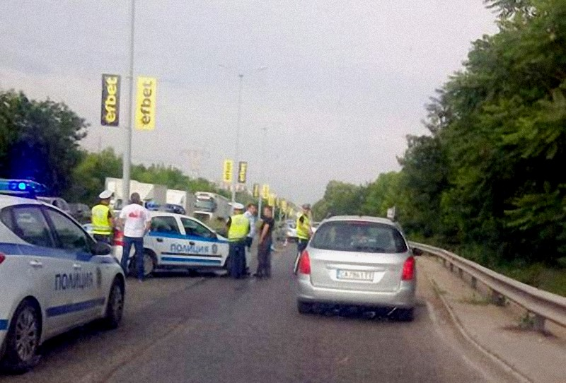"""при пътно-транспортното произшествие на бул. """"България"""""""