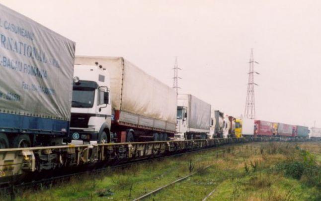 Първият влак, натоварен с ТИР-ове