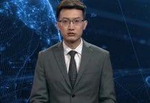 Дигитален телевизионен водещ на новините в Китай