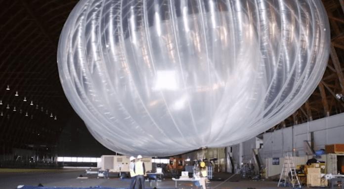 Мрежа от балони свързва с интернет