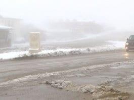 Първият сняг заваля в Силистренско