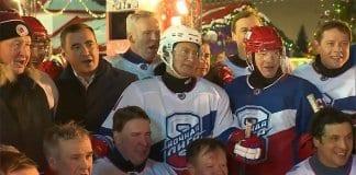 Путин с победа в хокеен мач
