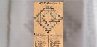 Историята на първата кръстословица