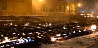В Чикаго палят жп релсите при минус 30 градуса!