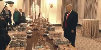 Доналд Тръмп посрещна шампиони по футбол с пържени картофки