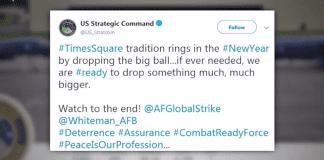 """""""Странен"""" поздрав за Нова година от Стратегическото командване на САЩ"""