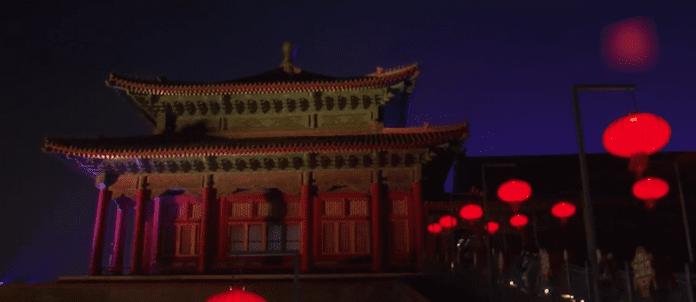 """Светлинно шоу в """"Забранения град"""" в Пекин"""