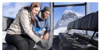 Ски курортът в Швейцария с лифт от кристали и други екстри