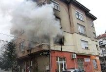Пожар горя на метри от Музикалната гимназия