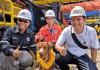Куче беше спасено на 220 км в морето
