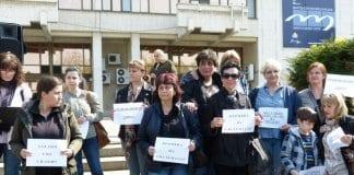 Специалисти по здравни грижи протестираха