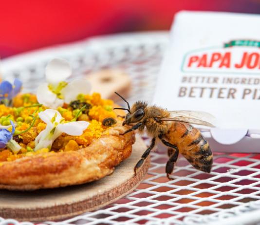 Британската Papa John's пусна мини пици за пчели