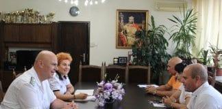 Новият командир на ВМС на посещение в Русе