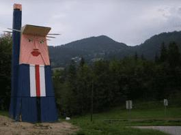 Издигнаха статуя на Доналд Тръмп в Словения