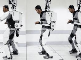 Напълно парализиран човек проходи с екзоскелет