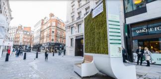 В Лондон инсталират пейки, пречистващи въздуха